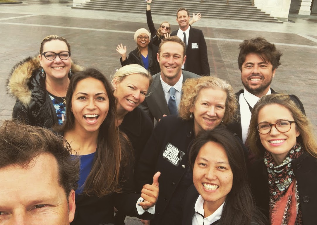 Members of the California delegation wrap up a day on the hill!