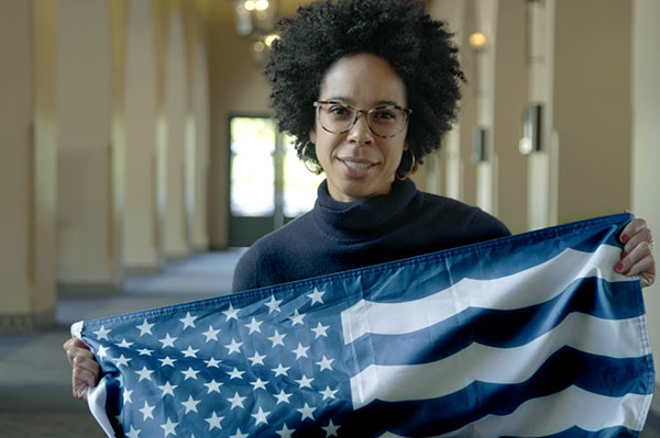 Dr Ayana Elizabeth Johnson, Marine Biologist and Conservation Strategist. Founder of Ocean Collectiv