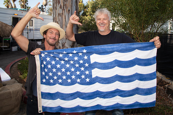 Eddie Vedder of Pearl Jam & Actor Tim Robbins